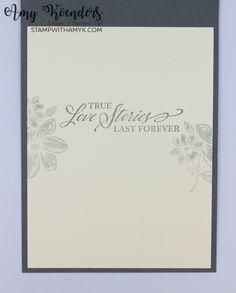 Stampin' Up! Elegantly Said Anniversary Card – Stamp With Amy K Wedding Aniversary, Wedding Anniversary Cards, Wedding Cards, Some Cards, Stampin Up Cards, I Card, Card Ideas, Amy, Catalog