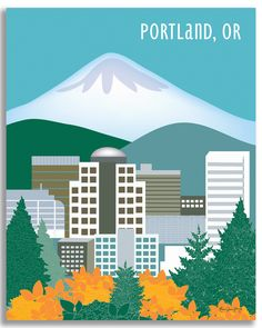 Portland, Oregon is available in an array of finishes, materials, and sizes, this retro inspired wall art will make Portland feel close to your heart with its bright color palette and unique design. Y