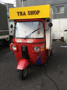 川崎ルフロン1Fのシンデレラステップ前に出店してます! #auto #rickshaw #foodcart #streetfood #chai #rickshawcafe #electrike #bajaj #エレクトライク #オートリキシャ #オートリクシャー #chaiwala #chaiwallah #tea stall