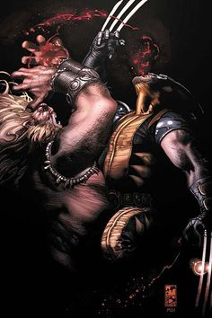 Sabretooth vs Wolverine by Simone Bianchi