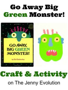 Go Away Big Green Monster Craft and Activity | The Jenny Evolution
