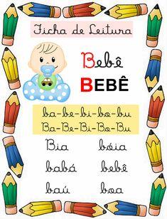 Portuguese Lessons, Phonics, Professor, Homeschool, Activities, Reading Activities, Kids Learning Activities, Interactive Activities, Preschool Literacy Activities