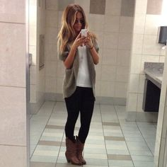 fashion style inspiration outfit #leggins #cardigan