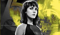 Johanna Mason, District She is my favorite character! Hunger Games Problems, Hunger Games Humor, Hunger Games Trilogy, Johanna Mason Hunger Games, Districts Of Panem, Quarter Quell, Mockingjay Part 2, Suzanne Collins, Katniss Everdeen