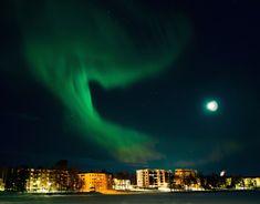 Auroras Boreales desde el centro de Rovaniemi