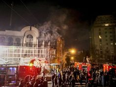 Iranian protesters overrun Saudi embassy, set fires