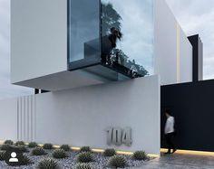 Minimal Architecture, Vernacular Architecture, Modern Architecture House, House Outer Design, Modern House Design, Exterior Door Colors, Interior Exterior, Villa Design, Facade Design