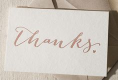 Wedding thank you card by Smock