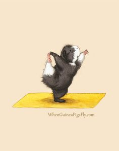Lord of the Dance - Cute Guinea Pig Yoga Art Print