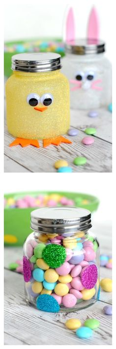 Easter Candy Jars