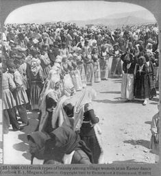Greek dance in Megara town, Attica Photographs Of People, Vintage Photographs, Vintage Photos, Old Greek, Greece Photography, Still Picture, Greek History, Greek Culture, Library Of Congress