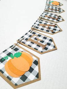 Herbst Banner, Kürbis Banner, Plaid Herbst Banner, Plaid Herbst Dekor, Thanksgiving B … - Gifts Thanksgiving Banner, Fall Banner, Thanksgiving Crafts, Thanksgiving Decorations, Fall Crafts, Holiday Crafts, Rustic Thanksgiving, Fall Bunting, Fall Garland