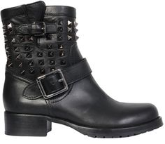 Biker Boot Rock Stud - Lyst