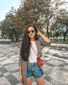 Short Outfits, Summer Outfits, Feeling Fine, Furla, Short Skirts, Blazers, Ootd, Women's Fashion, Style Inspiration