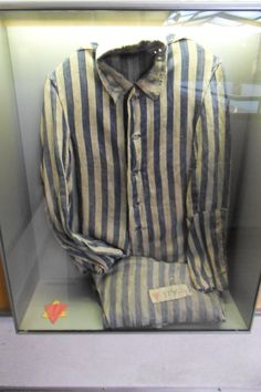 Oranienburg, GERMANY - March 2012 - inmate uniform of Sachenshausen concentration camp