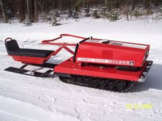 Bolens Diablo Rouge:  Our neighbours had one in NH in the 1960's (before the advent of modern-day snowmobiles).