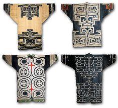 Amazing Ainu Attus Coat or kapara amip Japanese Textiles, Japanese Kimono, Ainu People, Susanoo, Asian Tattoos, Native Design, 20th Century Fashion, Body Adornment, Japanese Embroidery