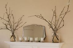 more twigs in jars
