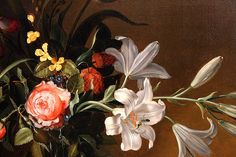 Vase of Flowers. after detail Flower Vases, Flowers, Old Paintings, Botanical Art, Still Life, Dutch, Detail, Painters, Floral