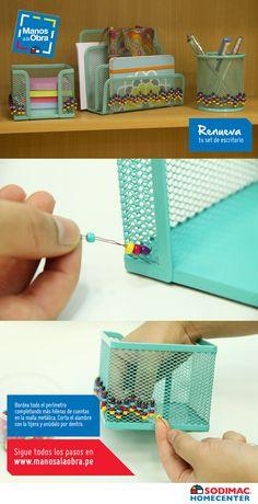 En unos simples pasos tu set de escritorio se verá genial #ManosalaObra #Idea #Escritorio #SodimacBackToSchool