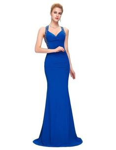 2675309905d Evening Dress Grace Karin 2018 Women cheap Backless Blue Red Slim-line Sexy  Bodycon Party Long Black Formal Gown Mermaid Dresses