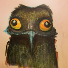 Sketch Drawing, Drawing Tips, Potoo Bird, Fun Illustration, Creature Design, Diy Projects To Try, Im In Love, Medium Art, Gourds