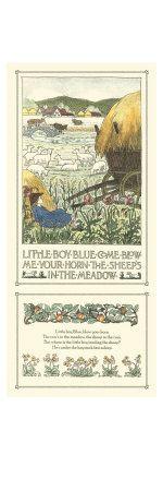 Vintage nursery rhyme for little boys nursery...Little Boy Blue...