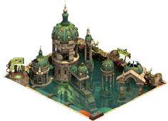 관련 이미지 Environment Concept Art, Environment Design, Fantasy Landscape, Fantasy Art, Forge Of Empire, Buildings Artwork, Cartoon House, Building Concept, Lego