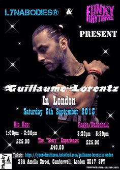 Guillaume coming to London Saturday 5th September  places going fast hurry and book!