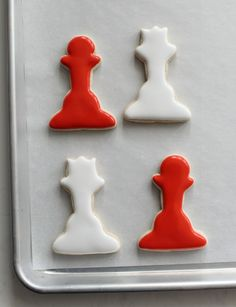 Chess cookies - gray and cream