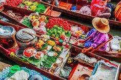 Damnoen Saduek Floating Market--Bangkok Thailand