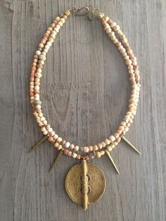 gorgeous necklace made of african clay beads