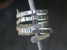Serenity Prayer Ring by donnaodesigns by donnaOdesigns on Etsy