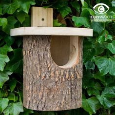Natural Log Robin Nesting Box , A natural style suitable for or wagtails. One of the best ways of attracting birds to your is by providing sites where th. Homemade Bird Houses, Homemade Bird Feeders, Bird Houses Diy, Bird House Feeder, Diy Bird Feeder, Bird House Plans, Bird House Kits, Bird Boxes, Cottage Gardens