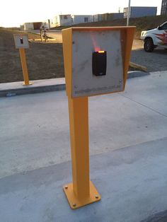 Australian Bollards - Access Control System: Card Reader Post & Head at Scoresby VIC.  http://www.australianbollards.com.au/Catalog/access-control-system