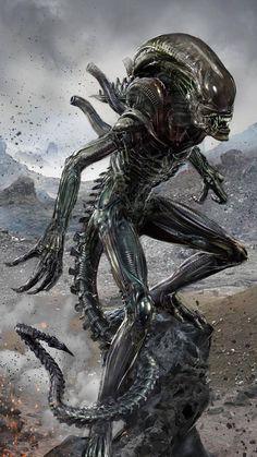unpainted Kit Modern Techniques Able Full Size 1:1 Alien Warrior Head