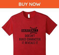 Kids Baseball Character T-Shirt 10 Cranberry - Sports shirts (*Amazon Partner-Link)