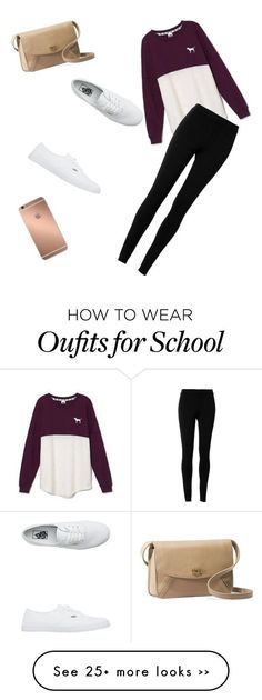 day at school by tduncc on Polyvore featuring Victorias Secret, Max Studio, Vans, Mura and UGG Australia