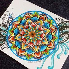 #mandala_sharing #mandalaplanet #zentangle #zentaglelove #mandala #mandala_universe #wonderfulcoloring #coloringbookforadult #lapiscoreseafins #desenhoscolorir #artework #adultcoloringapp #illustration #arteemmandala