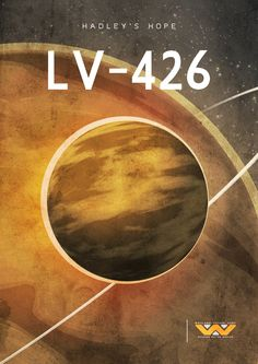 LV-426 Travel Poster (13x19 print) inspired by Alien.