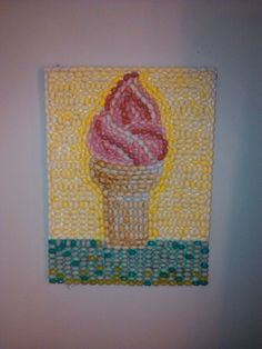 Use your Jelly Bellys to make a mosaic like the pros! Glue gun + Canvas + Jelly beans = deliciously adorable art :)