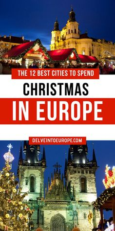 The 12 Best Cities To Spend Christmas In Europe – Best Europe Destinations Snow In Europe, Best Christmas Markets, Christmas Markets Europe, Christmas Travel, Holiday Travel, Christmas Fun, Camping Holiday, Magical Christmas, Christmas Vacation