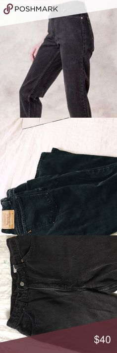 Black vintage Levi's Levi's size 14 medium washed out black color. Vintage denim with tapered fit/ leg 💫 snatch these before someone else does 😩    Tags:,Zara, brandy melville, urban outfitters, john galt, crop top, jeans, denim , vintage denim, high waisted, American apparel, juicy couture, jeans, shorts American eagle Charlotte russe pacsun Abercrombie hollister Aeropostale vintage denim, romwe, zaful, missguided, forever 21, nasty gal ripped, wrangler lee Calvin Klein Pants Straight Leg