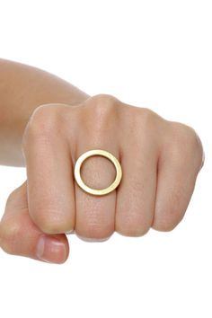 Sadly, out of stock. I love the ease and simplicity of it. Cheap Monday Gold Hole Ring at LuLus.com!