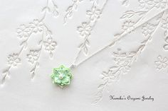 Origami Jewelry  Japanese Origami Flower by KumikosOrigami on Etsy
