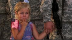 Story behind this? Her dad was leaving on a 2 year deployment. She was crying, and wouldn't let go of her dad's hand, even when he stood in line, saluting. No one had the heart to break them apart. http://media-cdn8.pinterest.com/upload/256705247480139663_9WmqqBMN_f.jpg let_it_rain wasted youth