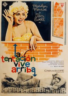 """MP394. """"The Seven Year Itch"""" Spanish Movie Poster by Mac (Billy Wilder 1955) / #Movieposter"""