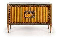 3 OF 6: A PAIR OF VARIOUS WOOD COMMODES, NAPLES, END 18TH CENTURY