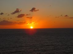 A gorgeous Caribbean sunset Carnival Liberty, Caribbean, Cruise, Celestial, Sunset, Outdoor, Outdoors, Cruises, Sunsets