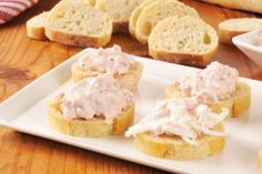 Seafood and ham appetizers stock image. Image of bruschetta - 48568095 Crab Salad, Seafood Salad, Canned Crab Meat, Krabi, Bruschetta, Ham, Camembert Cheese, Sushi, Appetizers